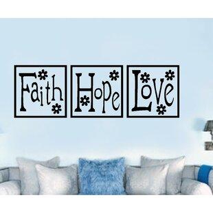 Faith Hope Love Paneling Religious Vinyl Wall Decal  sc 1 st  Wayfair & Faith Hope Love Wall Decal | Wayfair