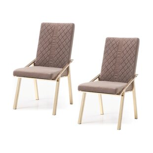Chudleigh Upholstered Dining Chair (Set of 2) Everly Quinn