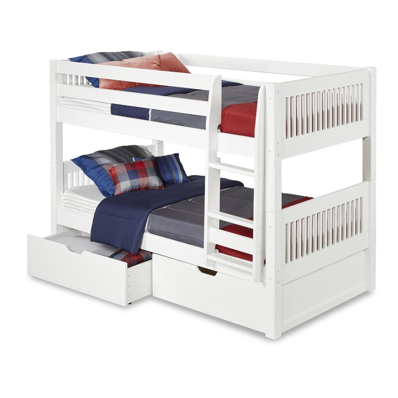 Isabelle Twin Over Twin Bunk Bed With Storage Reviews Allmodern