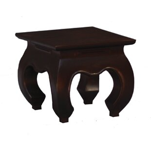 Fine Handcrafted Solid Mahogany Wood Opium End Table by NES Furniture