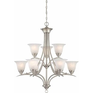 Fleur De Lis Living Whetsel 9-Light Shaded Chain Chandelier