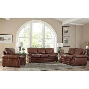 Compare Lyndsey 3 Piece Leather Sleeper Living Room Set by 17 Stories Reviews (2019) & Buyer's Guide