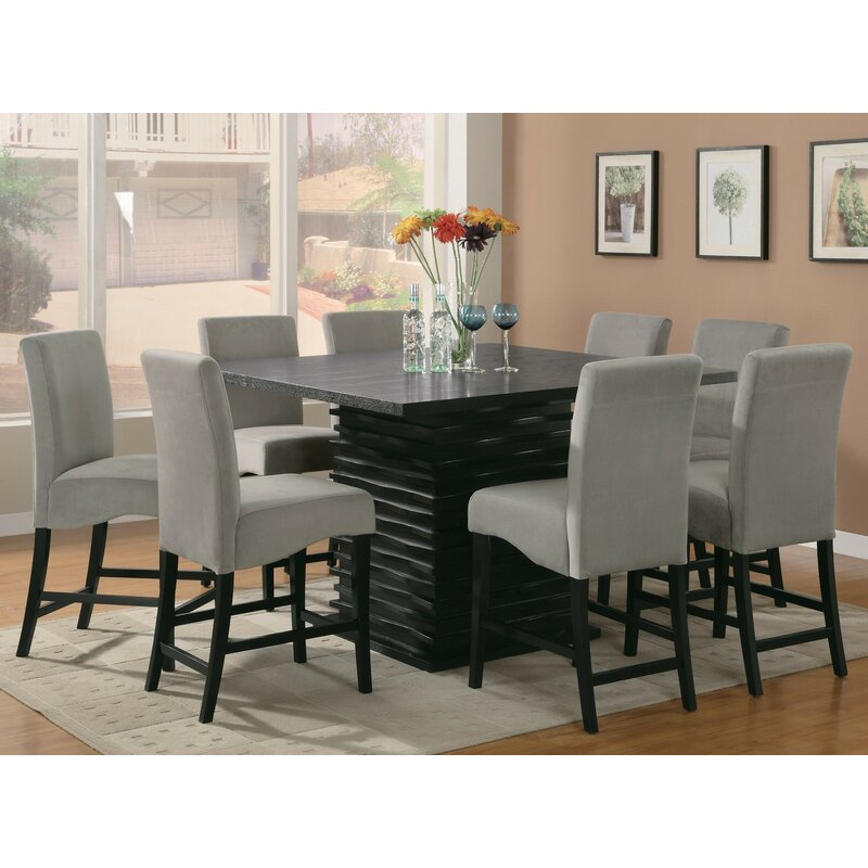 Jordan 9 Piece Counter Height Dining Set  sc 1 st  Wayfair & Infini Furnishings Jordan 9 Piece Counter Height Dining Set ...