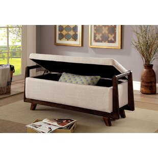 Behm Fabric Wooden Upholstered Storage Bench