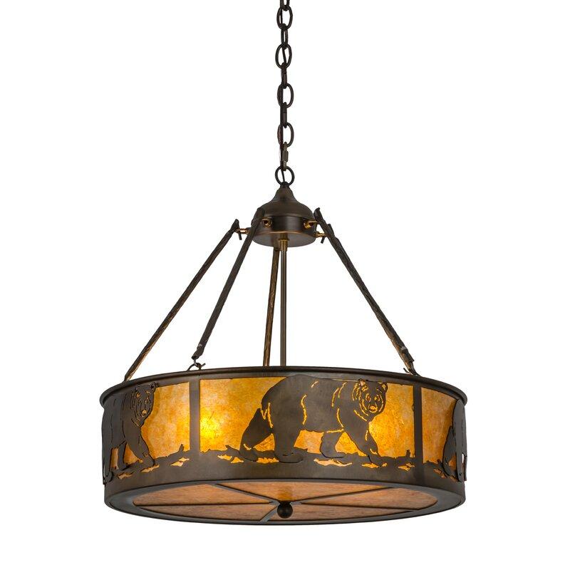 delightful Northwoods Lighting Fixtures Part - 12: Northwoods Lone Bear 4-Light Pendant