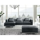 Catlett Leather Left Hand Facing Sectional by Wade Logan®