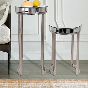Everly Quinn Laurine 2 Piece End Table Set
