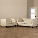 Aracely 2 Piece Leather Living Room Set by Mercer41