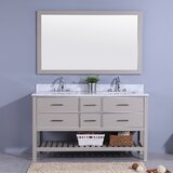 Rawson 61 Double Bathroom Vanity Set with Mirror by Breakwater Bay