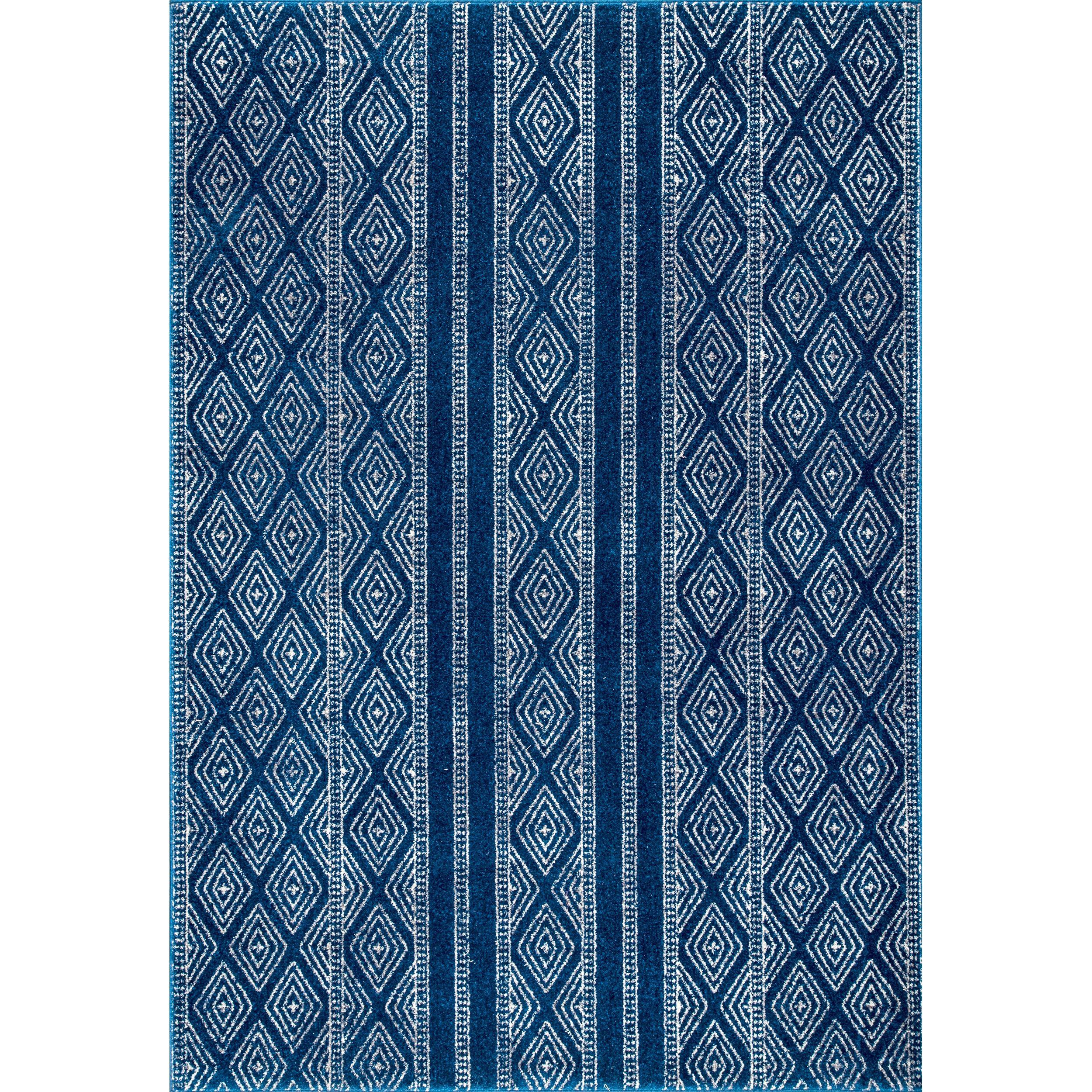 World Menagerie Minas Geometric Blue Area Rug Wayfair