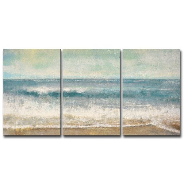 Highland Dunes Beach Memories By Norman Wyatt Jr 3 Piece Wrapped Canvas Acrylic Painting Print Reviews Wayfair