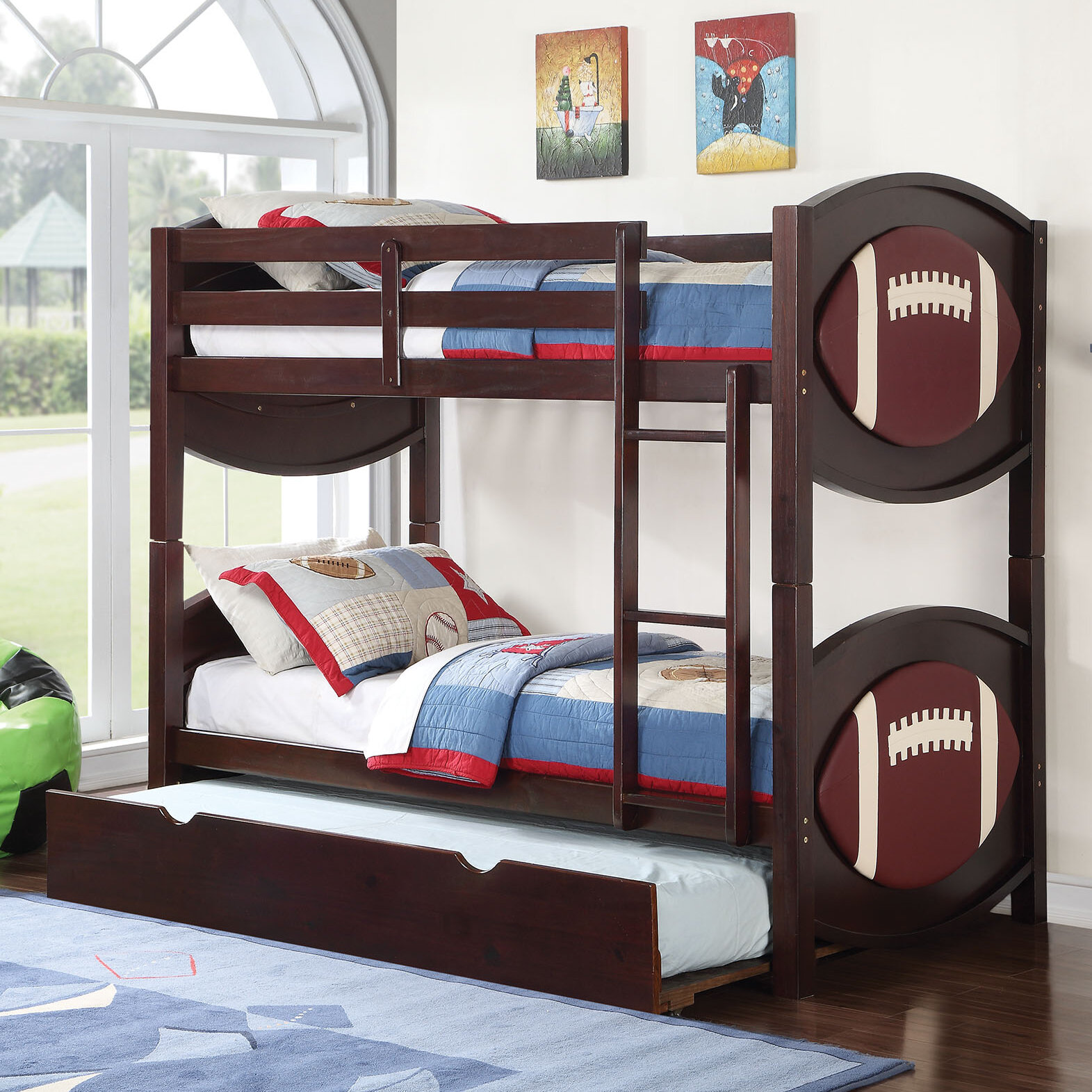 Acme Furniture All Star Football Twin Over Twin Bunk Bed With