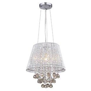House of Hampton Nessa 1-Light Crystal Chandelier