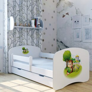 Reading Monkey Bed With Mattress And Drawer By Zoomie Kids