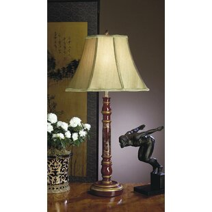 Asian style table lamps wayfair asian wood 33 table lamp mozeypictures Choice Image