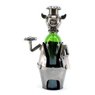 Pig Waiter 1 Bottle Tabletop Wine Rack by..