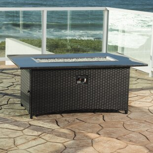 Orren Ellis Ete Stainless Steel Propane Fire Pit Table