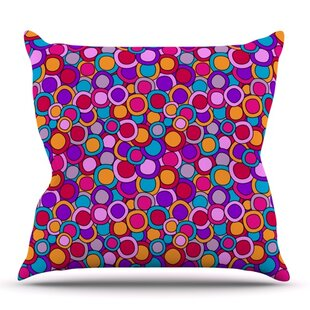 My Colourful Circles By Julia Grifol Outdoor Throw Pillow by East Urban Home