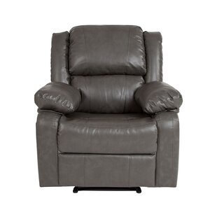 Socha Leather Manual Glider Recliner