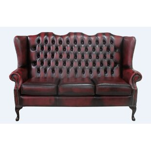 Cedric Genuine Leather 3 Seater Chesterfield Sofa By Williston Forge
