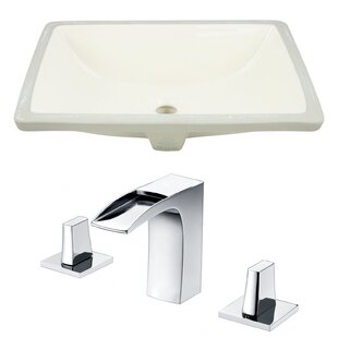 Reviews Ceramic Rectangular Undermount Bathroom Sink with Faucet and Overflow By Royal Purple Bath Kitchen