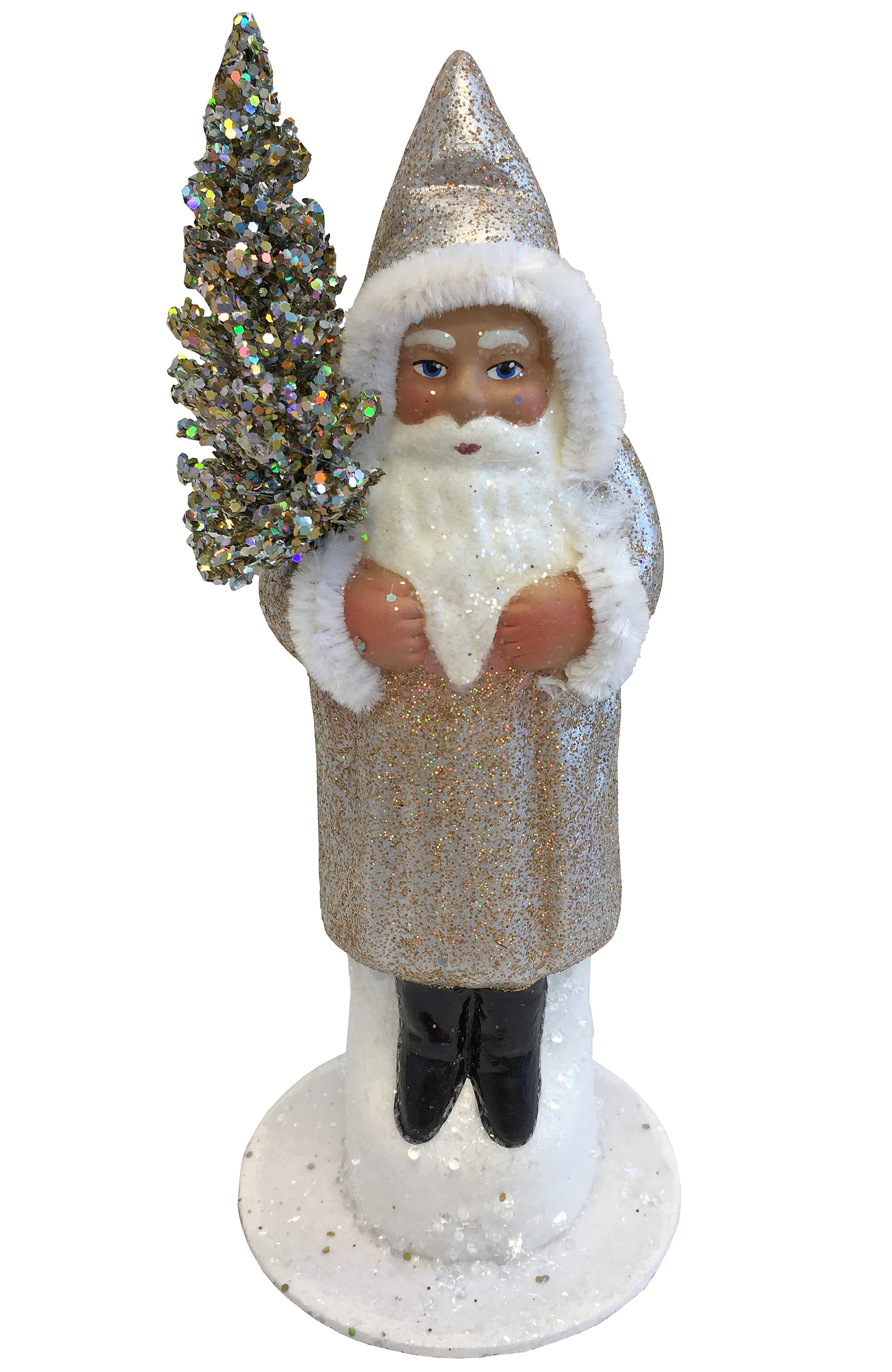 The Holiday Aisle Schaller Paper Mache Candy Container Santa Old Sponge Wayfair