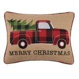 Reginald Tree Truck Cotton Lumbar Pillow