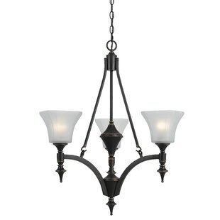 Darby Home Co Linkous 3-Light Shaded Chandelier