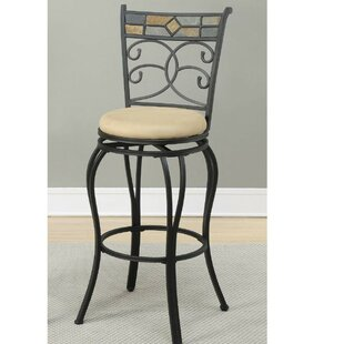 Giusti 29 Swivel Bar Stool (Set of 2) by Fleur De Lis Living