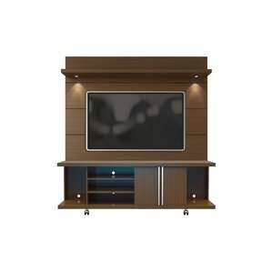 Online Reviews Wade Logan Lucca 71 TV Stand and Floating Wall TV Panel with LED Lights