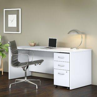 Bush Business Furniture Studio C 2 Piece Desk Office Suite