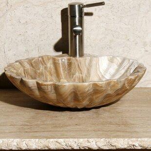 Allstone Group Stone Circular Vessel Bathroom Sink