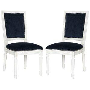 Battle Side Chair in Velvet - Navy (Set o..