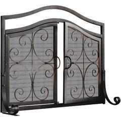 2-Door Iron Fireplace Screen