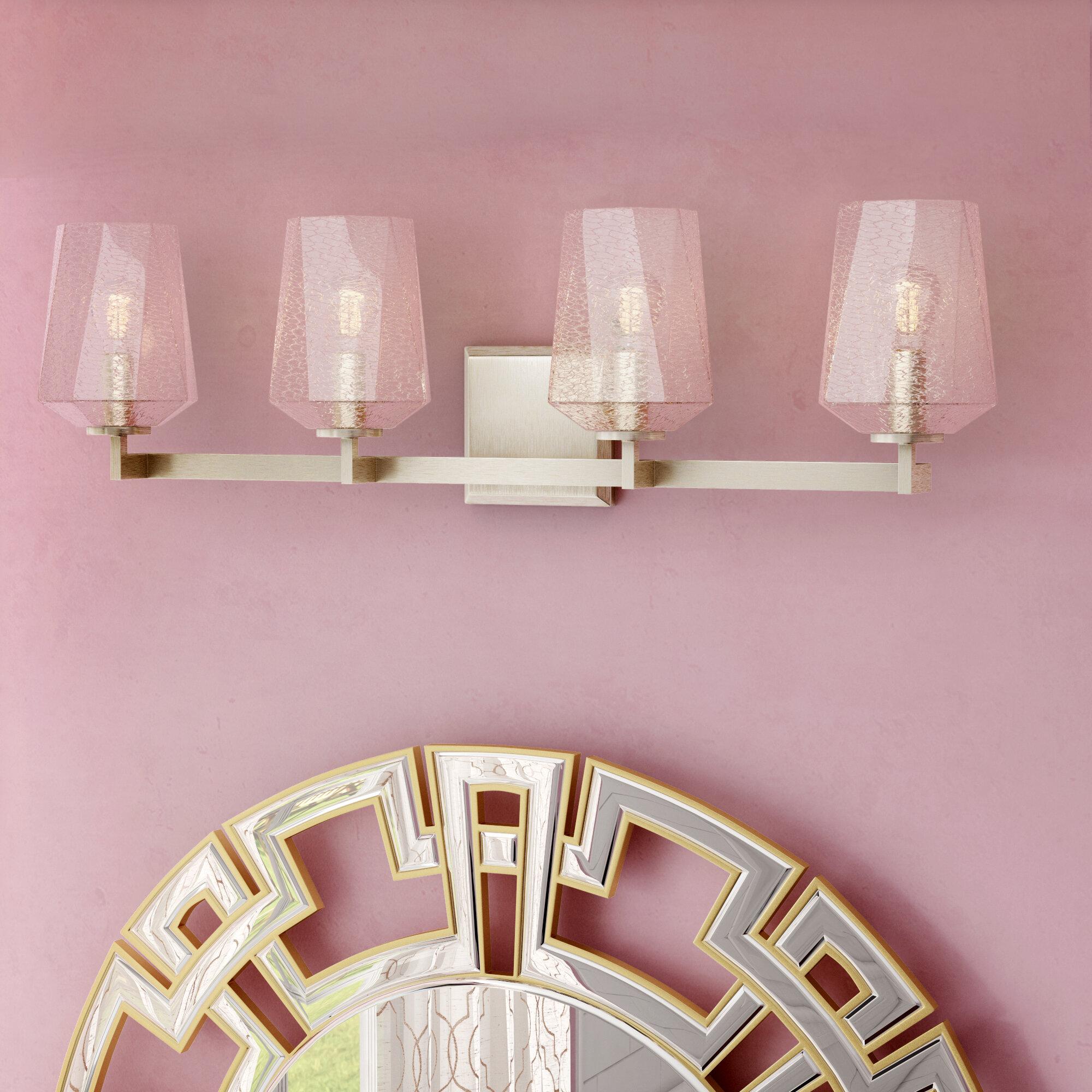 Willa Arlo Interiors Whetsel 4 Light Vanity Light Reviews Wayfair