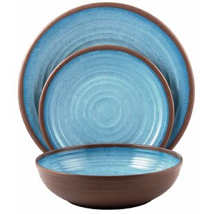 Melange 12-Piece Melamine Dinnerware Set (Clay Collection)