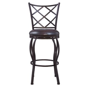Soperton Diamond Lattice Adjustable Height Bar Stool by Fleur De Lis Living