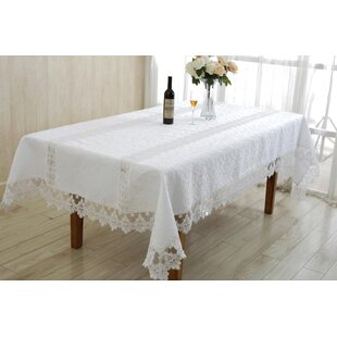 Pondsdale Embroidered Oblong / Rectangle Tablecloth