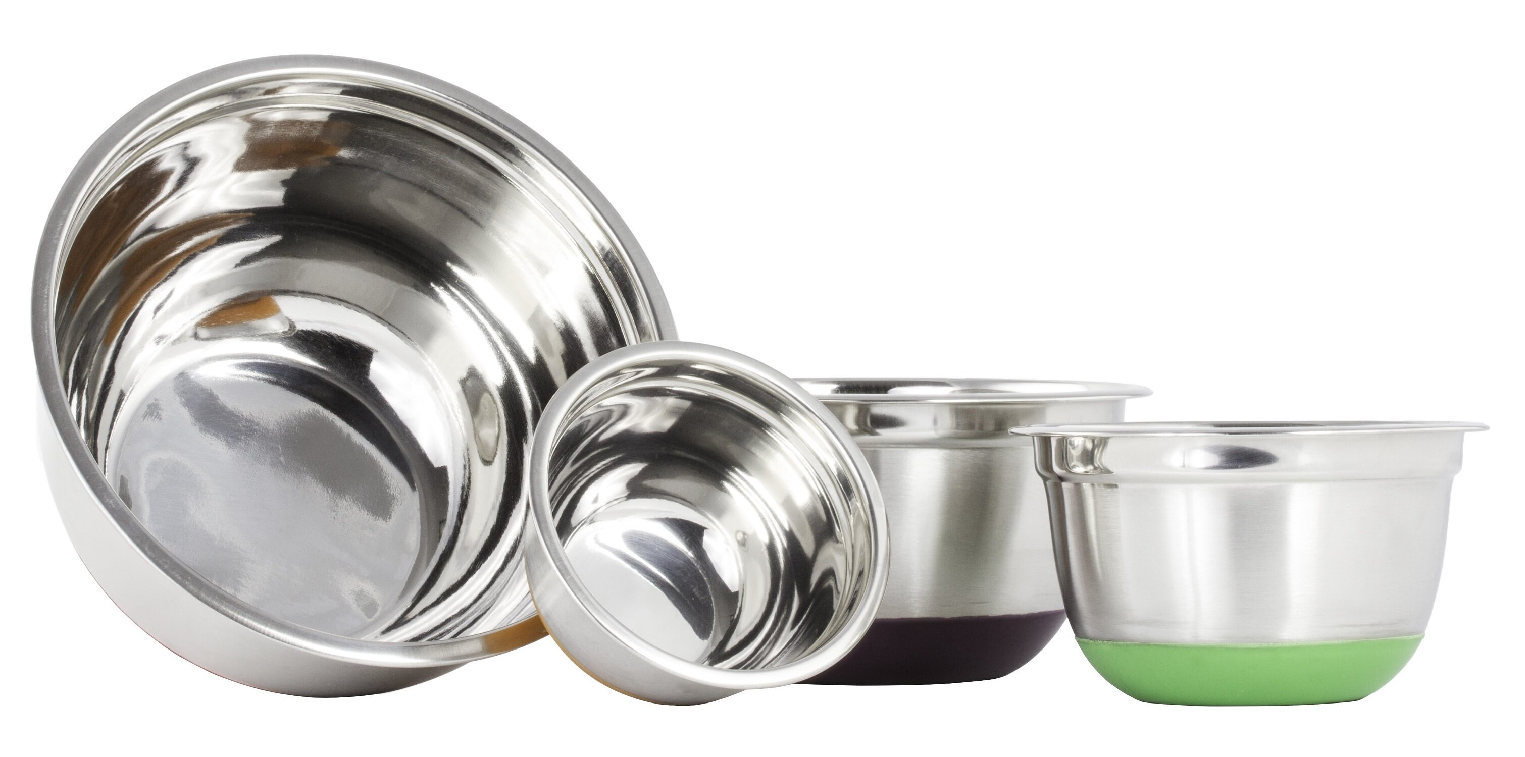Imperial Home 4 Piece Stainless Steel Mixing Bowl Set & Reviews ...