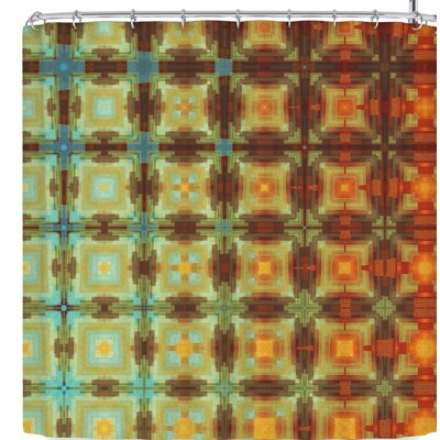Cvetelina Todorova Colorful Grid Shower Curtain