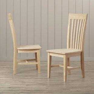 Lynn Slat Back Solid Wood Dining Chair (S..