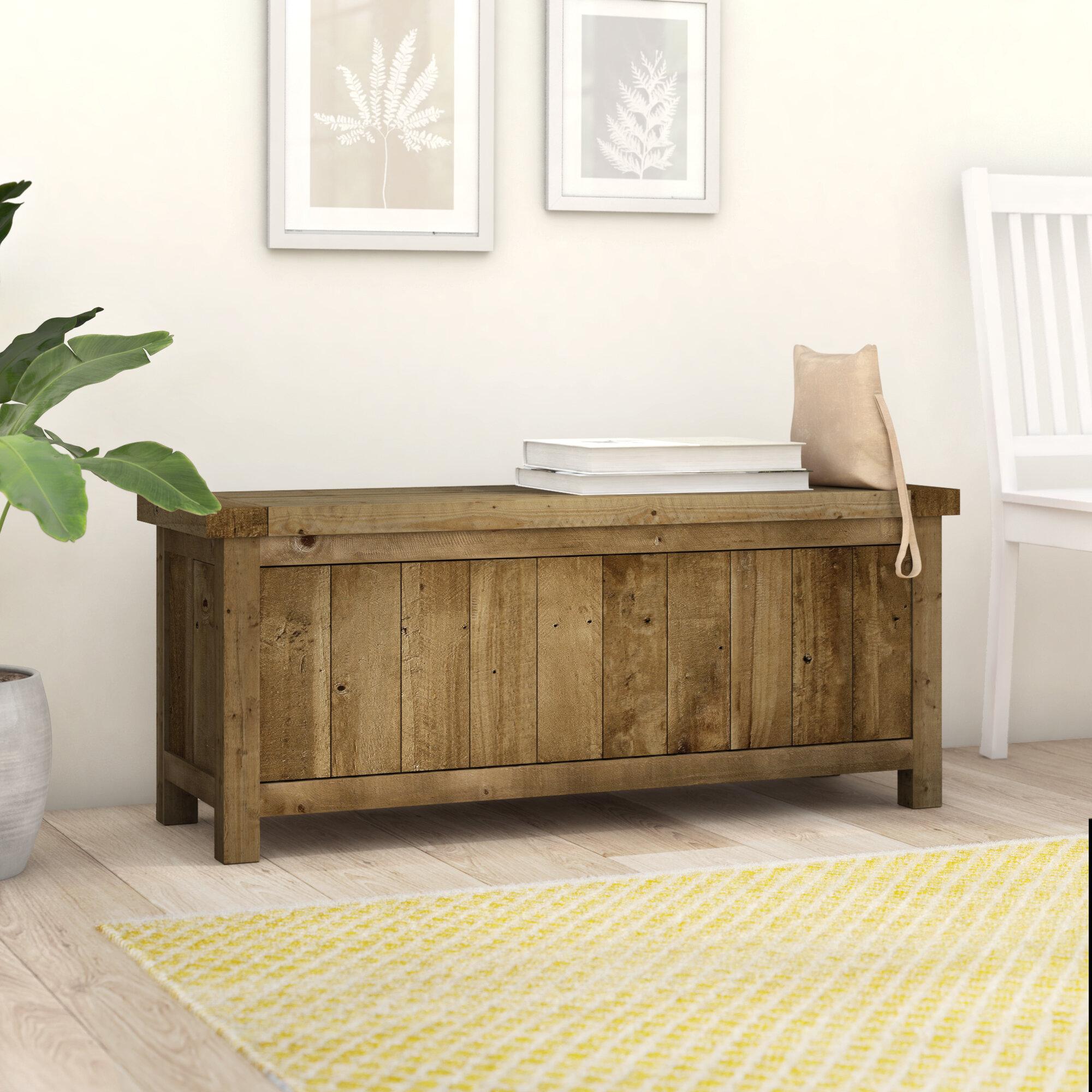 Amina Wood Storage Bench