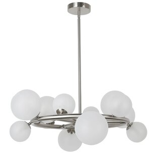 George Oliver Wendt 12-Light Wagon Wheel Chandelier