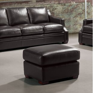 Darby Home Co Chico Leather Ottoman