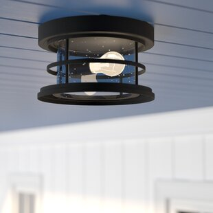 Beachcrest Home Abbotsford 1-Light Outdoor Flush Mount