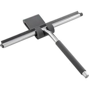 Symple Stuff Komar Double Wiper Blade Squeegee with Bracket Hook Hanger