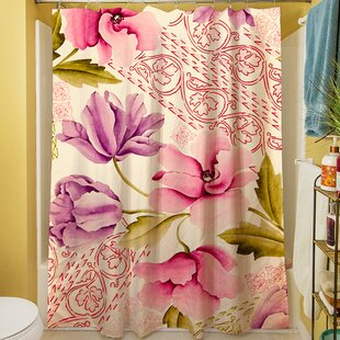 Tulips and Lace Shower Curtain ByManual Woodworkers & Weavers
