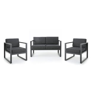 Eckenrode 3 Piece Conversation Set with Cushion