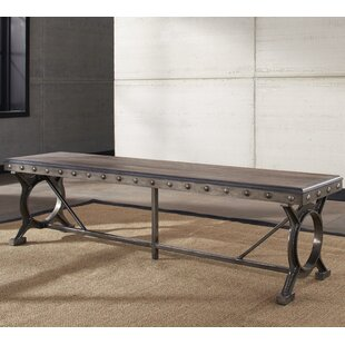 Barlow Metal/Wood Bench by Fleur De Lis Living