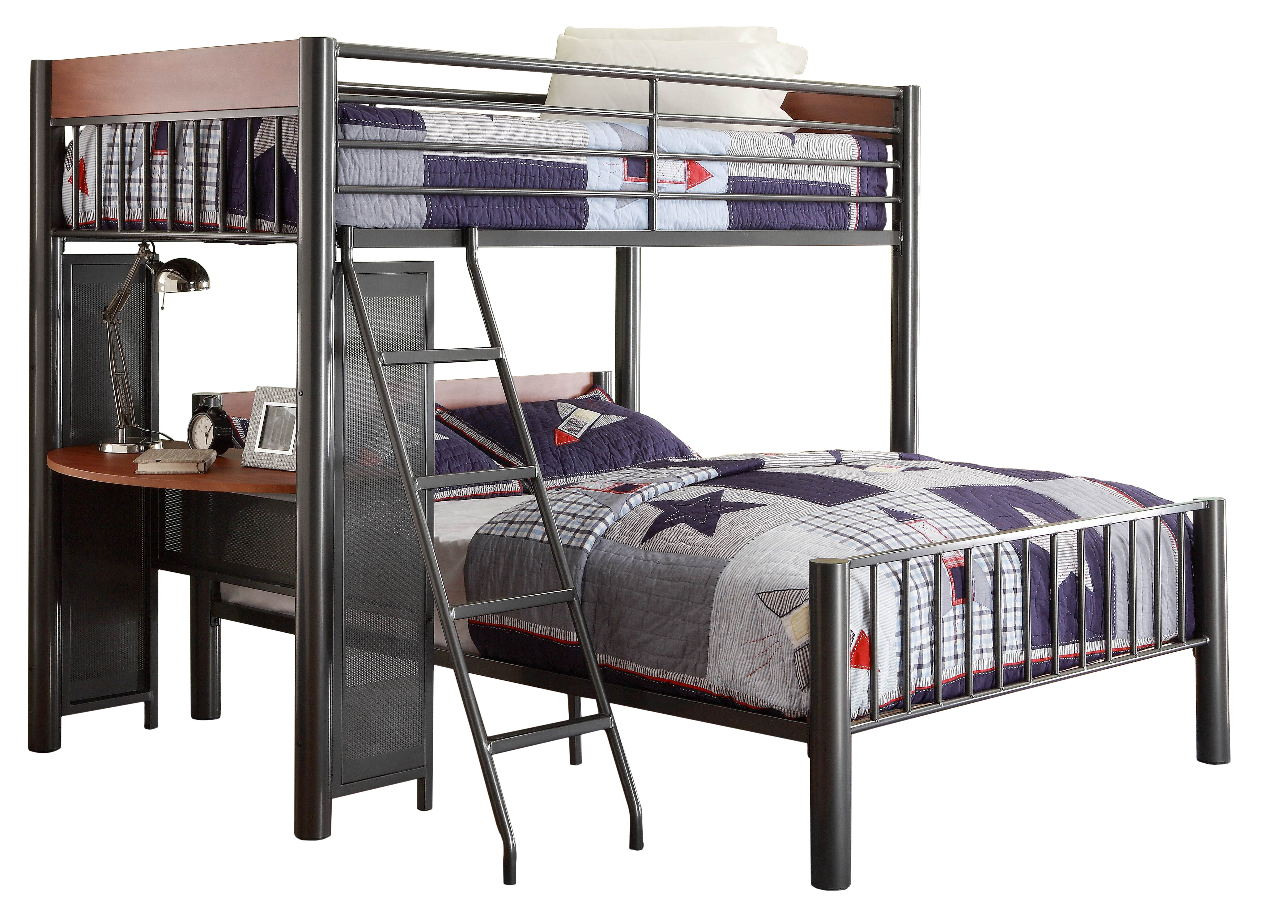 190 & Twyla Twin over Full L-Shaped Bunk Bed